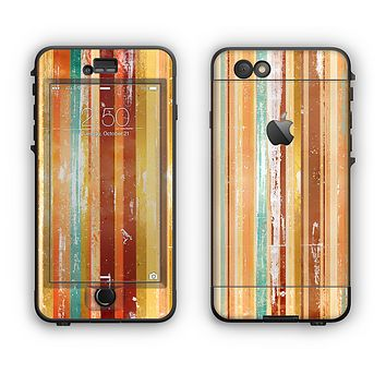 The Smudged Yellow Painted Stripes Pattern Apple iPhone 6 Plus LifeProof Nuud Case Skin Set