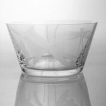 Dragon Fly Etched Glass Bowl