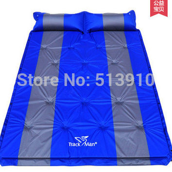 Couple inflatable mattress!3cm thick cushion can be spliced automatic inflatable tent moisture pad mattress multiplayer