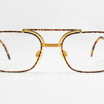 Cazal, 747, New Old Stock, Rare Vintage, Gold and Tortoise, Luxury, Unique Nose Bridge, Eyeglasses, Sunglasses, Unisex, Frames