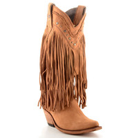 Liberty Black Fringed Boots