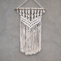 Wall hanging Off white wall decoration Modern macrame Rustic living room decor Boho bedroom Gypsy home decor Eco-friendly housewarming gift