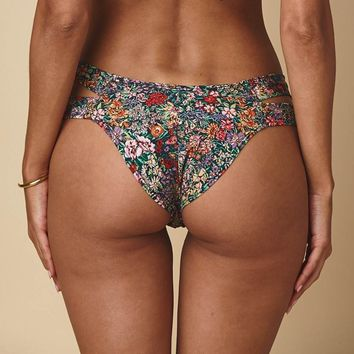Mara Floral Added Coverage Euro Bikini bottom