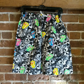 Vintage Rolling Stones 80's neon shorts