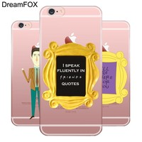 DREAMFOX L051 Friends Funny Tv Show Soft TPU Silicone  Case Cover For Apple iPhone X XR XS Max 8 7 6 6S Plus 5 5S SE 5C 4 4S