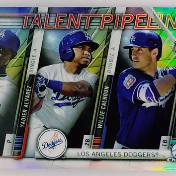 "CODY BELLINGER ROOKIE ""TALENT PIPELINE"" REFRACTOR 2017 Bowman Chrome #TP-LAD RC"