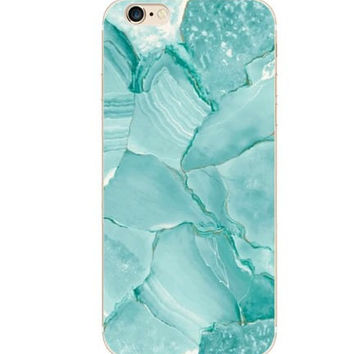 iPhone 6 Case Marble iPhone 6 Soft Case Granite Pattern Silicone Cover For iPhone 6 Slim Design Case Marble Turquiose 3737