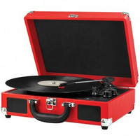 INNOVATIVE TECHNOLOGY ITVS-550BT RD Bluetooth(R) Suitcase Turntable (Red/Black)