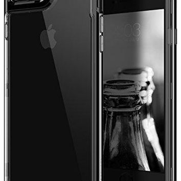 iPhone 7 Plus Case / iPhone 8 Plus Case, Caseology [Skyfall Series] Transparent Clear Slim Scratch Resistant Cover Drop Protection for Apple iPhone 7 Plus (2016) / iPhone 8 Plus (2017) - Jet Black