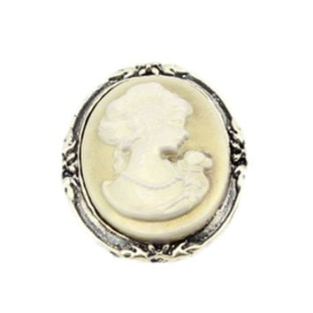 Women's Fashion Style Queen Head Portrait Brooch Vintage Cameo Elegant Brooch For Antique Wedding Jewelry