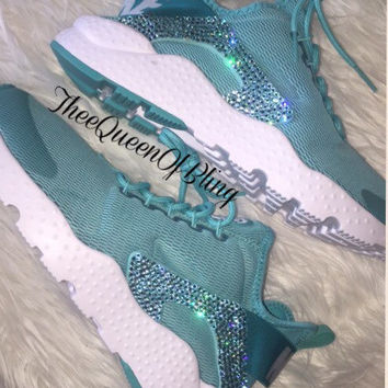 Last pair SALE!! Air Huarache Run Ultra with swarvoski crystals size 8.5 - ready to ship! Price reduced!
