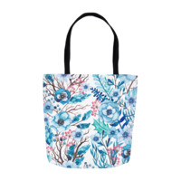 Winter Floral Tote Bags