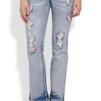 Amethyst Series 31 Bootcut Jean in Super Light Wash with Embroidery