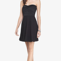 Bandage Bodice Fit And Flare Dress from EXPRESS
