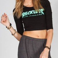 YOUNG & RECKLESS Battalion Womens Crop Tee