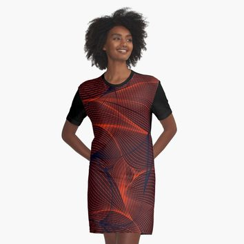 'Hypnotzd Abstract 87' Graphic T-Shirt Dress by hypnotzd