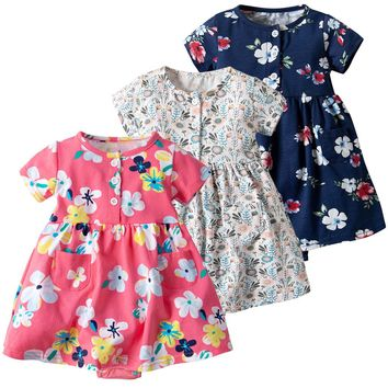 Floral Romper For Baby Girls