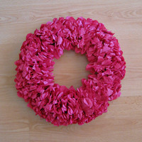 Spring Pink Rose Wreath, Rose Centerpiece, Home Decor with Paper Napkin, Handmade Table Top, Classy Floral Ornament, Unique Front Door Decor