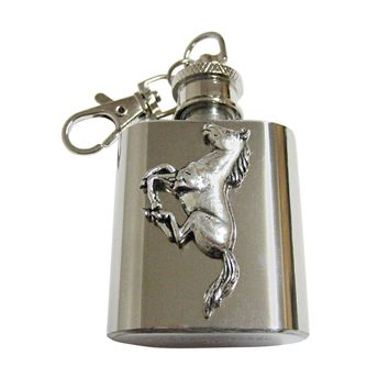 Running Horse 1 Oz. Stainless Steel Key Chain Flask