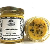 Fame & Fortune Soy Spell Candle for Beauty, Success, Fame, Wealth & Money  (Hoodoo Wiccan Pagan Magick)
