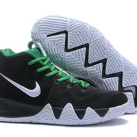 Nike Kyrie 4 Black/Green/White Sneaker Shoe