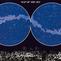Map of the Sky Constellations Education Poster 27x39