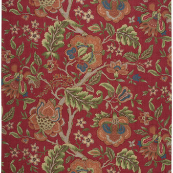 Waverly Global Awakening Imperial Dress Garnet Area Rug By Nourison WGA01 GARNT (Rectangle)