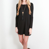 Evermore Piko Dress, Black