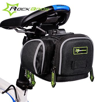 ROCKBROS Road Bike Bicycle Saddle Bag Portable Cycling Outdoor MTB Seat Post Bag Basket Adjustable bike riding Fixed Gear Fixie