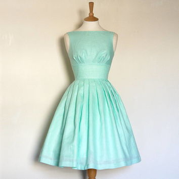 Irish Linen Tiffany Prom Dress