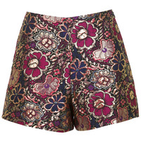 Pink Floral Jacquard Short - Clothing - New In