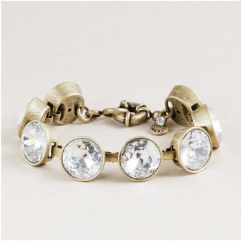 2013 J. Crew Style Inspired Vintage Clear Crystal cooper Wedding Party Bridal Statement Bracelet girls bracelet/ summer  FashionTrends