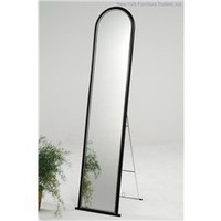 Floor Mirror-21 - Black, Contemporary Floor Mirror, Home And Office Furniture: Nyfurnitureoutlets.com