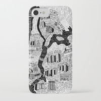 Hip-Hop Map of New York iPhone Case by sarahkingart