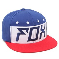 Fox Red White And True Snapback Hat - Mens Backpack - Red/White/Blue - One