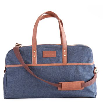 Indigo Denim Duffel Bag