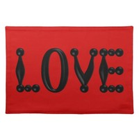 Puffy LOVE Placemats