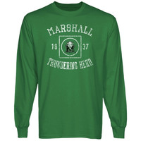 Marshall Thundering Herd University Lockup Long Sleeve T-Shirt - Green