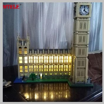 MTELE Brand LED Light Up Kit Toy For Compatible with Lego 10253 City Creator Big Ben Model