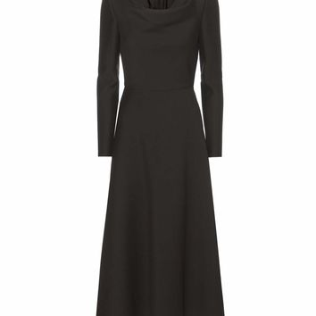 Virgin wool and silk midi dress
