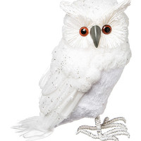 Winter White Foam Owl Table Décor