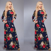 Fashion Casual Print Dress For Women Silm Long Dress [9221270724]