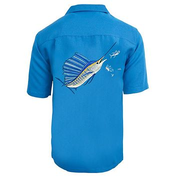 Men's Sailfish Chase Embroidered Fishing Shirt