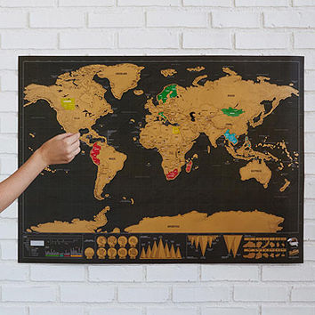 Scratch Map Deluxe | Scratch-Off Wall Maps
