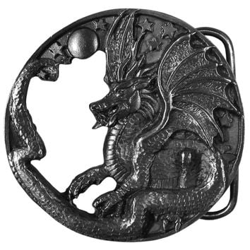 Sports Accessories - Dragon Antiqued Belt Buckle