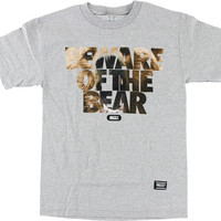 Grizzly Predatory Attack Tee Medium Heather Grey