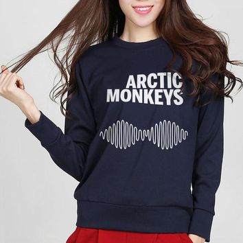 2016 fashion Autumn Arctic Monkeys Sweatshirt Jumper Kawaii Cute Women Hip Hop Sweatshirt Hipster Music Punk Style Hoodies