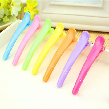30Pcs Bright Color Hair Clips Plastic Hair Pins Professional Headdress Non-Slip Hair Barrettes DIY Hairpins Accessories