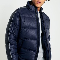 UO Dark Navy Taped Puffer Jacket | Urban Outfitters