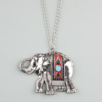 Full Tilt Ethnic Elephant Pendant Necklace Silver One Size For Women 23449114001